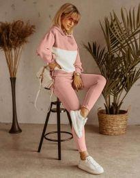 Дамски спортен комплект в розово - код 11630