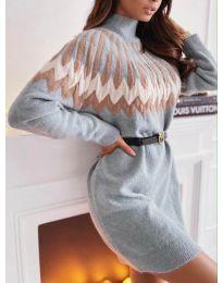 Ефектна дамска рокля  - код 08033 - 2