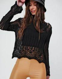 Екстравагантна дамска блуза в черно - код 2744
