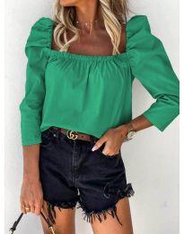 Дамска блуза в зелено - код 9906