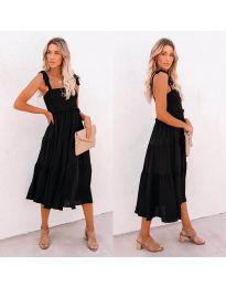 Свободна  дамска рокля в черно- код 7791