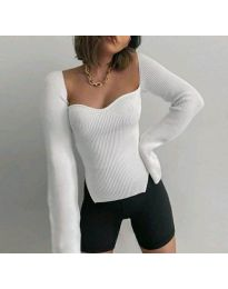 Дамска блуза в бяло - код 4139
