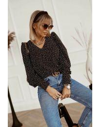 Атрактивна дамска блуза в черно - код 3250