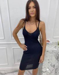 Дамска рокля в тъмносиньо - код 4476