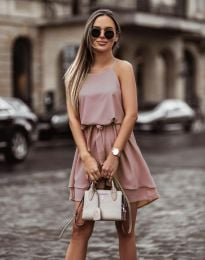 Феерична рокля в цвят пудра - код 2104