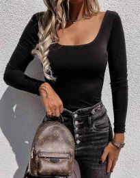 Екстравагантна дамска блуза в черно - код 4833