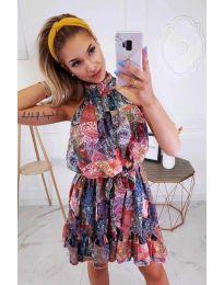Феерична рокля  с атрактивен десен - код 1312