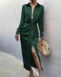 Елегантна рокля в тъмнозелено - код 6459
