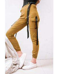 Дамски панталон в цвят горчица - код 6967