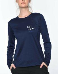 Дамска блуза в тъмносиньо - код 6516