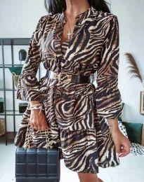 Феерична рокля с атрактивен десен - код 4260 - 2