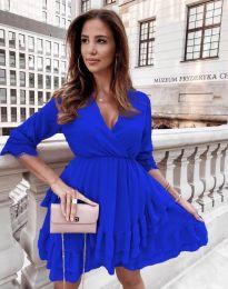Атрактивна дамска рокля в синьо - код 0545