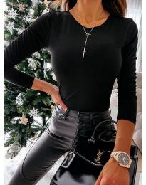 Елегантна дамска блуза в черно - код 4238