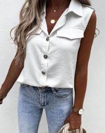 Дамска риза в бяло - 6598