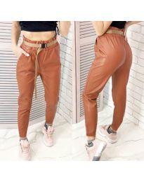 Дамски панталон в кафяво - код 6329