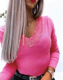 Дамска блуза в цвят циклама - код 3938