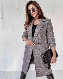 Дамско палто в сиво - код 0964