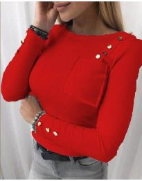 Дамска блуза в червено - код 1597