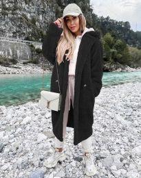 Дамско палто в черно - код 8302