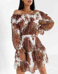 Дамска рокля с атрактивен десен - код 1667 - 3