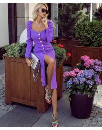 Елегантна рокля в лилаво - код 4418