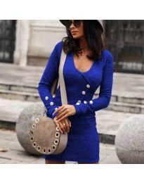 Дамска рокля в синьо - код 4516