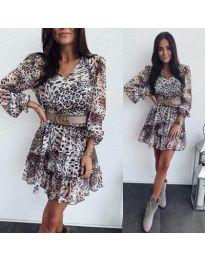 Дамска къса рокля с животински мотиви - код 916
