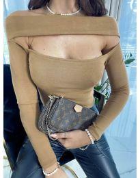 Елегантна блуза в бежово - код 5766