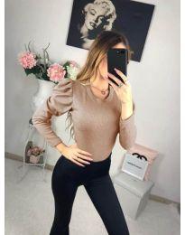 Блуза - код 713 - кафяво
