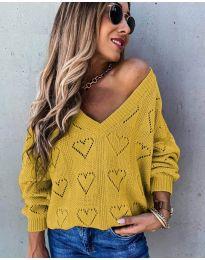 Дамска блуза в цвят горчица - код 137