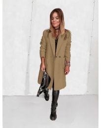 Дамско палто в бежово - код 4540
