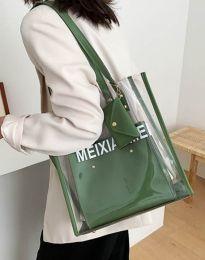 Атрактивна дамска чанта в масленозелено - код B304