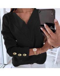 Дамска блуза в черно - код 0990