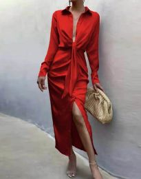 Елегантна рокля в червено - код 6459