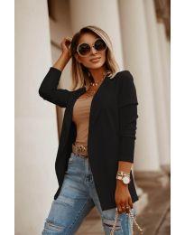 Дамско сако в цвят черно - код 2900
