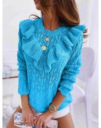 Елегантна дамска блуза в синьо - код 790