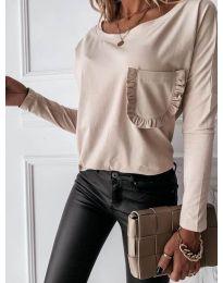 Дамска блуза в  светло бежово - код 0382