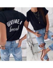 Тениска - код 3293 - черно
