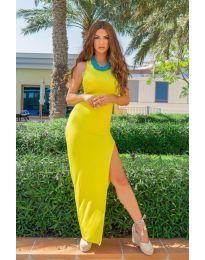 Атрактивна дамска рокля в жълто - код 11966