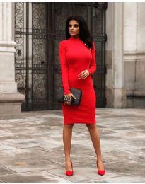 Дамска рокля в червено - код 7099