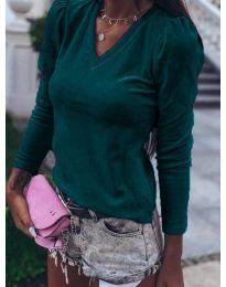 Дамска блуза в цвят тюркоаз - код 0755