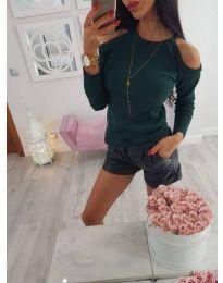 Блуза - код 607 - зелено