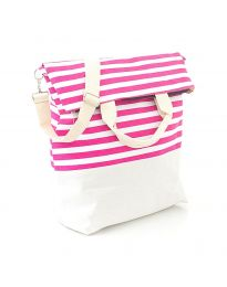 Плажна чанта на райе - код H - 9029 - 5