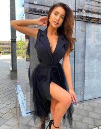 Ефектна дамска рокля в черно - код 2256