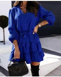 Свободна рокля в тъмно синьо - код 8272