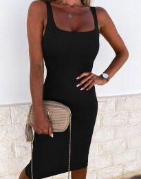 Елегантна рокля в черно - код 8899