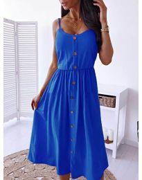 Изчистена рокля цвят тъмно синьо - код  5057