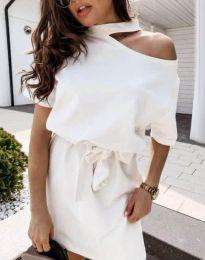 Дамска рокля в бяло - код 0256