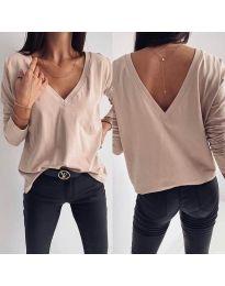 Дамска блуза в бежово - код 3330