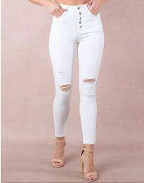 Дамски дънки в бяло - код 3973